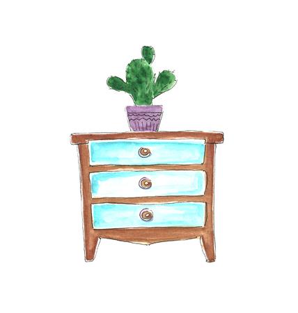 Watercolor furniture.