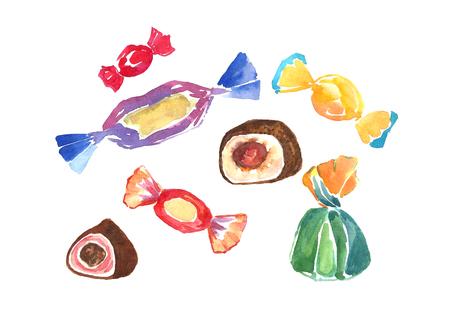 Watercolor candies. Фото со стока