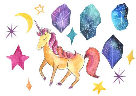 Watercolor unicorn.