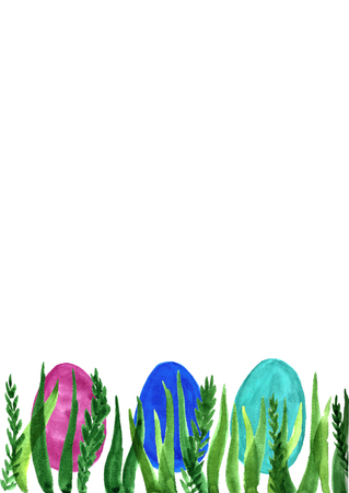 Watercolor Easter background.