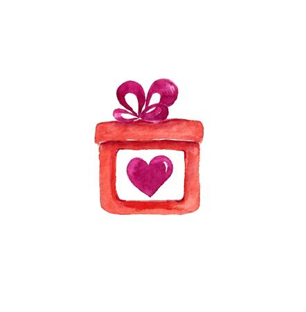 Watercolor gift box.