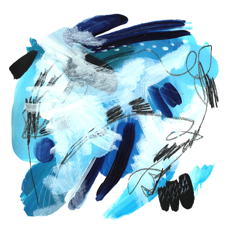 Blue abstract.