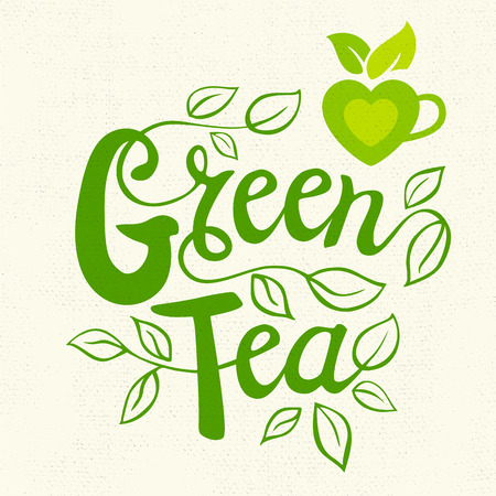 Green tea icon Vectores