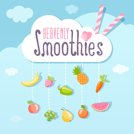 smoothie: Heavenly smoothie concept. Illustration