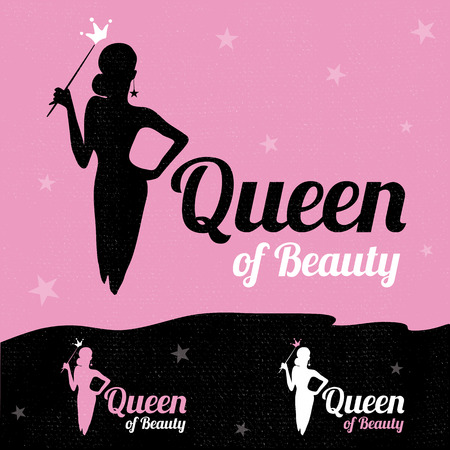 beauty contest: Queen of Beauty design template.