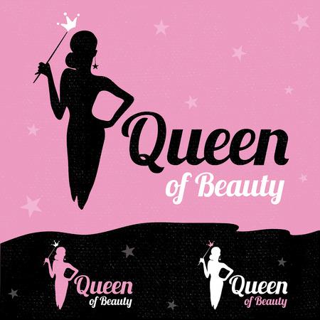 Queen of Beauty design template.