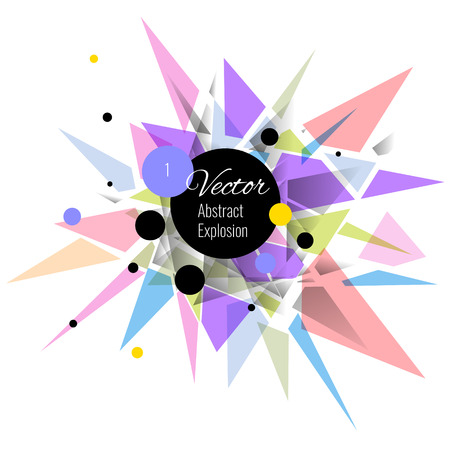 rosa negra: Abstract vector explosion background Pink, black, purple Vectores