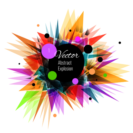 colorfull: Abstract vector explosion background Colorfull, black, purple