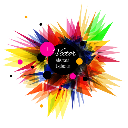 Abstract vector explosion background Colorfull, black, yellow