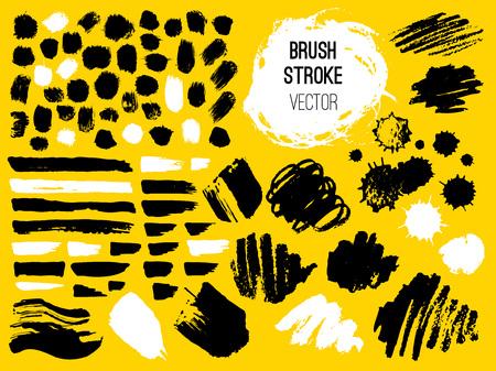 set stroke spot blod brush pen marker chalk vector distressed