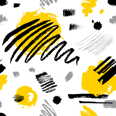 Creative Seamless pattern. Artistic universal background. Hand Drawn textures. Design for poster, card, invitation, header, cover, placard, brochure, fabric. Illustration