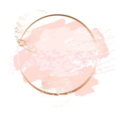 Cornici d'arte rosa dorata. Vettoriali