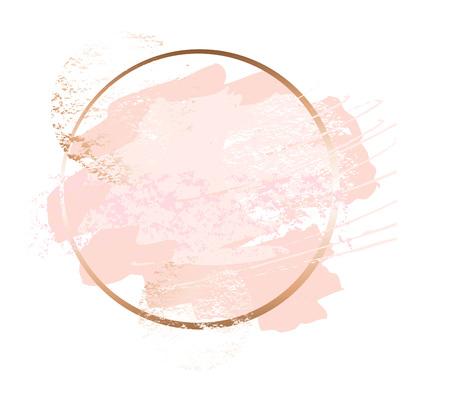 Gouden roze kunstframes. Vector Illustratie