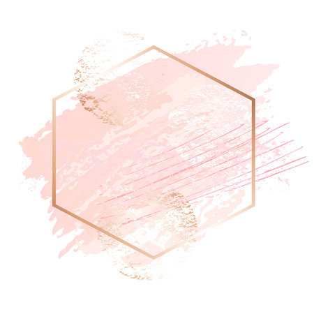 Golden pink art frames.