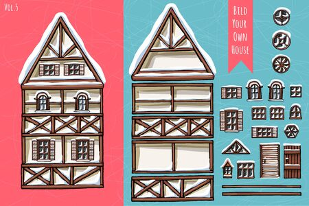 Winter seasons snow for postcard design posters
