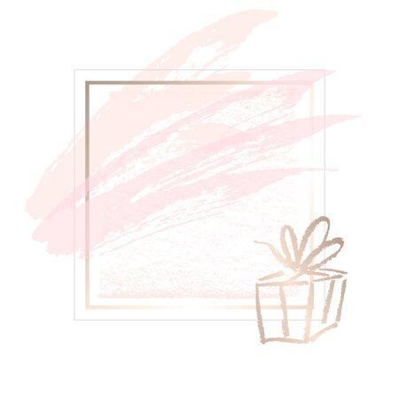Golden pink  art gift frames.