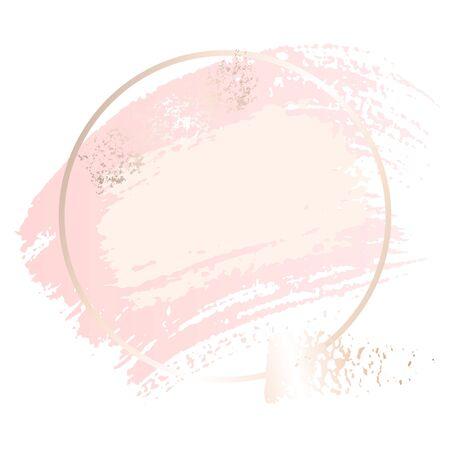 Golden pink  art gift frames. Imagens - 132017334