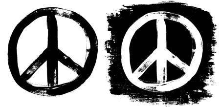 Peace sign grunge black white tee graffiti doodle sketch dirty style symbol