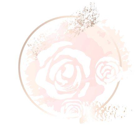 Golden pink  art gift frames. Imagens - 132017957