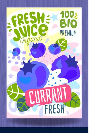 Abstract splash Food label template.