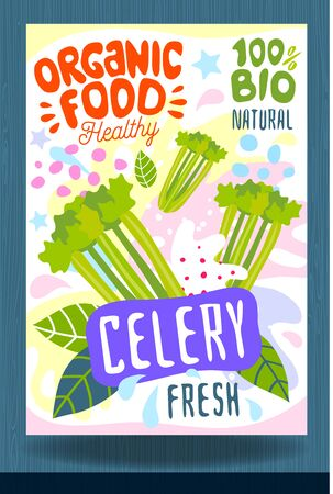 Abstract splash Food label template