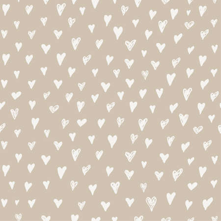 Seamless pattern tender pastel color collections. Brush stroke paint elements, hearts, strips, curves, waves paint. Beautiful trendy fashion fabric textile pattern set. Hand drawn vector illustration Ilustrace