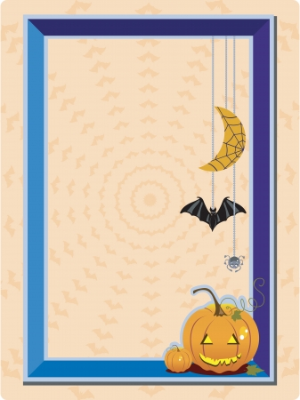 Halloween Frame with space for photo Çizim