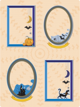 4 Different Halloween Frame with space for photo