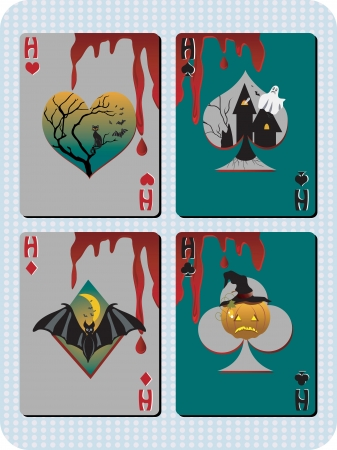 4 Different Halloween cards