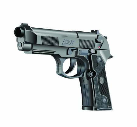 handgun: Vector illustration of Beretta Elite II handgun