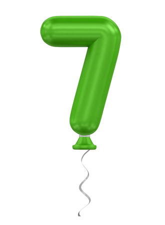 compliments: three-dimensional rendering balloon number in green on a white background Stock Photo