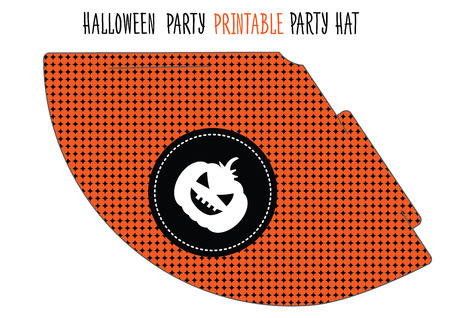 Printable hat for Halloween party. Handmade cut out Illustration