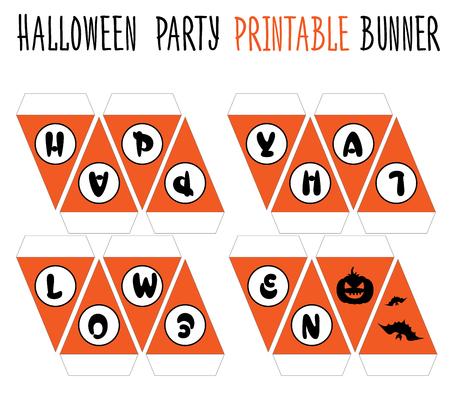 diecut: Printable set for Halloween party. Handmade banner