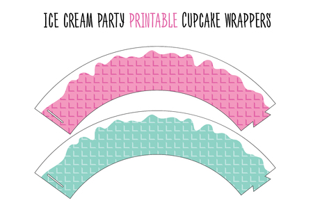 Cupcake wrappers printable. Cut. Ice cream party