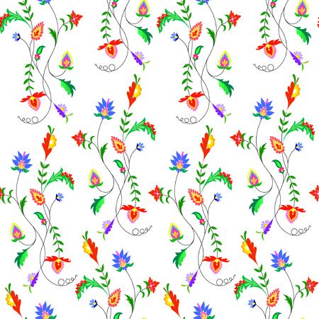 Illustration of fantasy flowers pattern illustration. 向量圖像