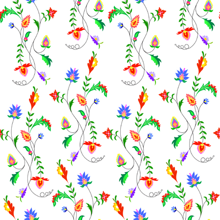 Illustration of fantasy flowers pattern illustration. Illustration