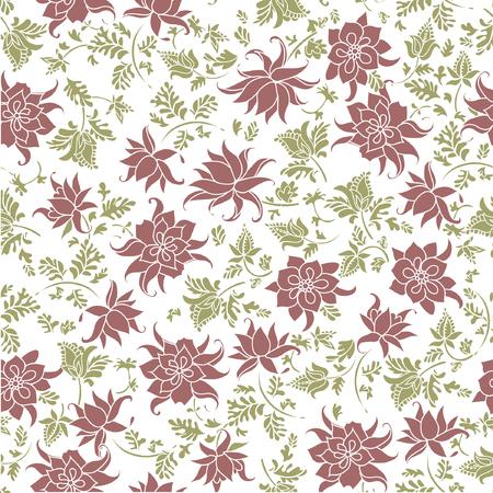 Vector illustration of seamless pastel flowers pattern