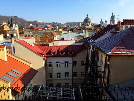 lviv: Roofs, the city Lviv