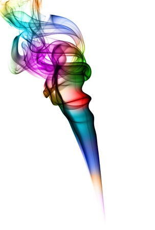 Rainbow colored smoke Stock Photo - 15627396