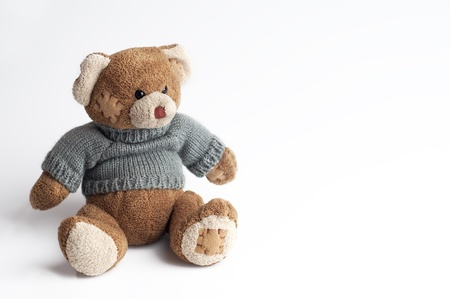 withe background: Teddy bear isolated on withe background