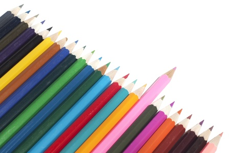 color pencils isolated, isolated on white background Stock Photo - 16478243
