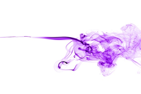 Purple or pink smoke shape isolated on white