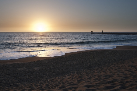 Sunset at Capbreton beach photo