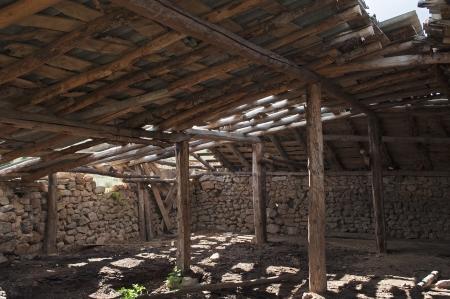 inside a dilapidated barn photo