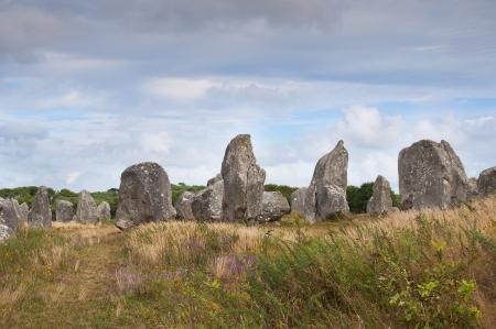 Carnac megalithischen Steinen, Bretagne, Frankreich Lizenzfreie Bilder