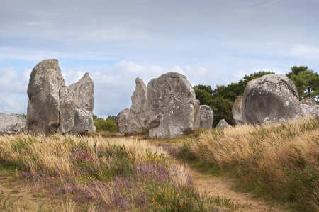 Carnac megalithic stones, Brittany, France Stock Photo - 17722548