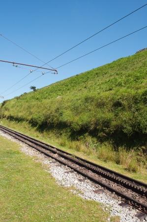 alten Eisenbahnschienen im Bereich