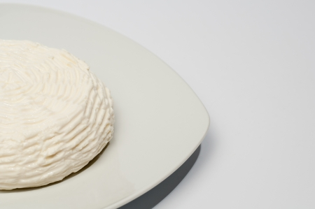 cheese on a white plate Stock Photo