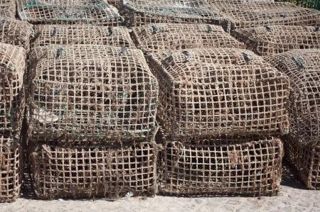 K�fige f�r die Fischerei Meeresfr�chte Lizenzfreie Bilder
