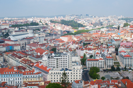 aereal: Lisbon city, Portugal. Aereal view on sunny day  Editorial